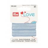 Prym love passepoil élastique 15mm bleu clair 1,5m - 17