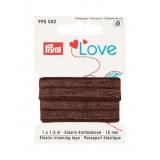 Prym love passepoil élastique 15mm brun 1,5m - 17