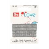 Prym love passepoil élastique 15mm gris 1,5m - 17