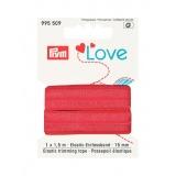 Prym love passepoil élastique 15mm rouge 1,5m - 17