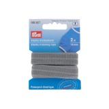Passepoil élastique 15mm gris 2m - 17