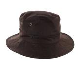 Chapeau huilé 100% coton t.58 brun - 171