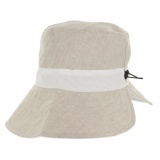 Chapeau 52% lin revers naturel - 171