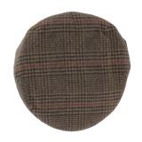 Casquette plate 80% laine t.60 marron - 171