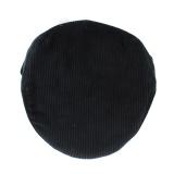 Casquette plate velours 100% coton t.55 noir - 171