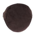 Casquette plate velours 100% coton t.58 marron - 171