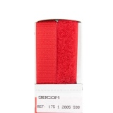 Ruban velcro 20mm rouge - 175