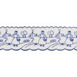 Bande fermiere 6cm bleu - 181