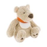 Doudou ours james avec bavoir à broder
