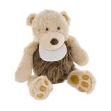 Doudou ours Brendt avec bavoir à broder 32 cm