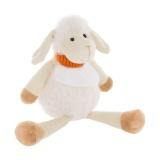Doudou mouton léonie avec bavoir à broder