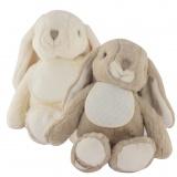 Lot de 2 doudous lapins kanini écru et beige