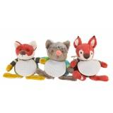 Lot de 3 doudous animaux de la forêt
