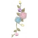 Thermocollant par 2 : fleurs 18,5 x 7 - 19