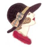 Thermocollant x2 : profil de femme 6 x 5 - 19