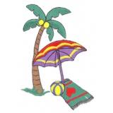 Thermocollant par 2 : palmier parasol 10 x 7 - 19