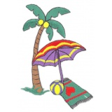 Thermocollant x2 : palmier parasol 10 x 7 - 19