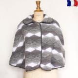 Cape 100% acrylique gris - 2