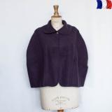 Cape laine acrylique t.u prune - 2