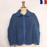 Cape laine acrylique t.u bleu - 2