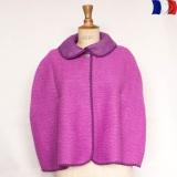 Cape 100% acrylique violet - 2