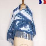 Châle acrylique courtelle bleu clair - 2
