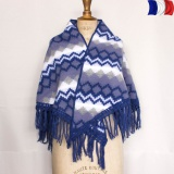 Châle acrylique courtelle bleu foncé - 2