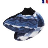 Chausson 100% acrylique bleu - 2