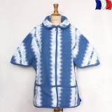 Boléro à poches 100% acrylique bleu - 2