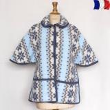 Boléro 70% acrylique 30% laine bleu taupe - 2