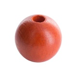 Perle bois 10mm orange - 21