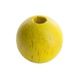 Perle bois 14mm jaune - 21