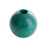 Perle bois 14mm vert - 21
