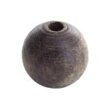 Perle bois 18mm marron - 21