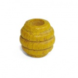 Perle rayée 14/17mm jaune - 21