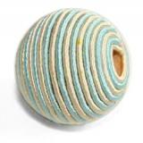 Perle façon cordelière bleu 20mm - 21