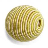 Perle façon cordelière jaune 20mm - 21
