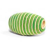 Perle cordelière olive vert 10/25mm - 21