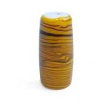 Perle tube jaune verre veiné - 21