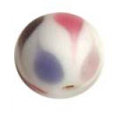 Perle tachetée rose 15mm - 21
