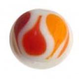 Perle tachetée orange 15mm - 21