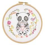 Sacha le panda - kit à broder - 215