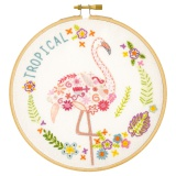 Gontran le flamant - kit broderie - 215