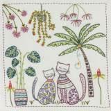 Vacances sous les tropiques- pochette kit broderie - 215