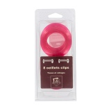 Oeillets clip 40mm transparent-blister-