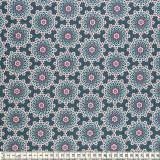 Tissu Mez Fabrics coton mandala dream blue - 22