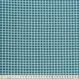 Tissu Mez Fabrics coton mandala grid blue - 22
