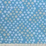 Tissu Mez Fabrics coton bunny & cloud drops blue - 22