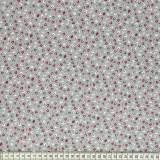 Tissu Mez coton tutti frutti mini leaf grey - 22