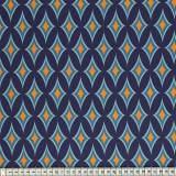 Tissu Mez Fabrics coton blomstereng blue a&c - 22